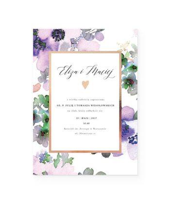 zaproszenie z motywem kwiatów
