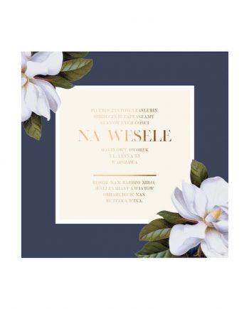 zaproszenie na wesele magnolia