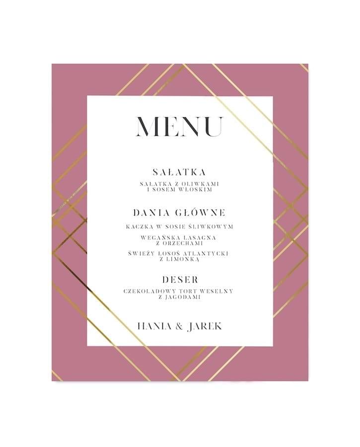 menu na stół Marsala Glam
