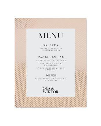 menu ślubne złocone