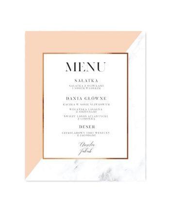menu weselne Amelie Minimal