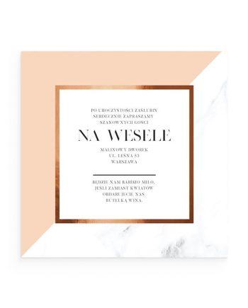 zaproszenie na wesele Amelie Minimal