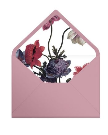 wklejka do koperty Vintage Poppies