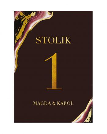 Dark Marsala numer stolika