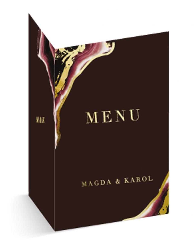 Dark Marsala menu otwierane