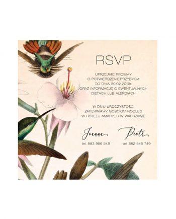 Potwierdzenie RSVP Birds and Flowers