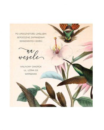 Karta informacyjna Birds and Flowers