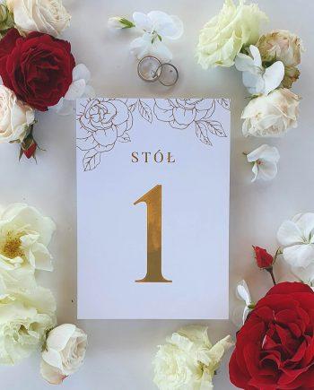 Numerek stolika Perfect Roses